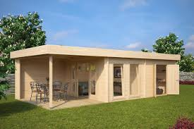 summer house rio with storage room 22m 50mm 9 x 4 m hansa wood