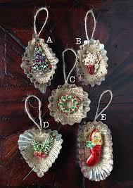vintage jewelry tart tin ornament by homespunkarma