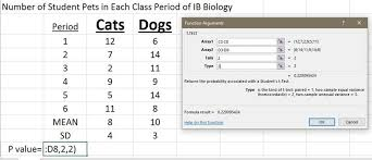 t test biology for life