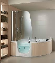 Bathroom Shower Tub Ideas Small Corner Bathtub With Shower Pool Design Ideas