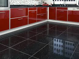 flooring cozy laminate and travertine kitchen floor tiles for modern kitchen design with modern kitchen cabinets and mosaic tile backsplash plus cozy black kitchen floor