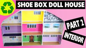 How To Make Dolls House Furniture How To Make A Shoe Box Dollhouse Part 2 Interior Easy Doll