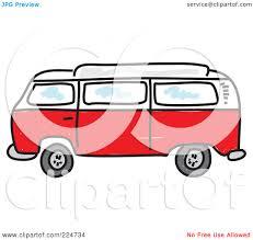 volkswagen hippie van clipart royalty free rf clipart illustration of a red camper van by