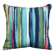 Lowes Allen And Roth Patio Furniture - shop allen roth stripe and striped square throw pillow outdoor