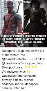R Rated Memes - tru fact 1628 marveltruefacts it has beaten deadpool to take the