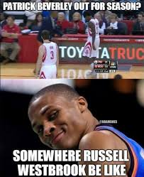 Westbrook Meme - nba memes on twitter russell westbrook reacts to patrick