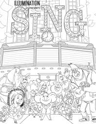 All Characters From Sing Coloring Page Free Printable Coloring Pages Coloring Characters