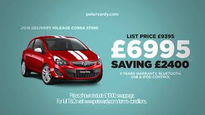peugeot used car event peter vardy vauxhall used car event tv ad youtube