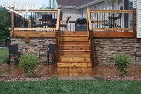 deck skirting idea with a stone design decks com u2026 pinteres u2026
