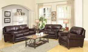 Living Room With Brown Leather Sofa by 2017 Latest Burgundy Leather Sofa Sets