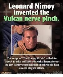 Script Meme - leonard nimoy invented the vulcan nerve pinch the script of the