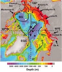 Arctic Ocean Map Degradation Of Terrigenous Dissolved Organic Carbon In The Western