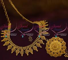 gold necklace jewellery images Nl9208 light weight delicate low cost south indian imitation JPG