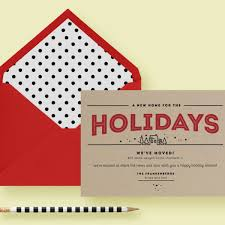 kraft paper modern moving card letter loft