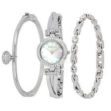 anne klein bracelet set images Anne klein mother of pearl dial ladies watch and bracelet set jpg