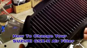 how to install and change suzuki gsx r air filter youtube