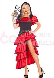 Spanish Dancer Halloween Costume Ladies Spanish Flamenco Fancy Dress