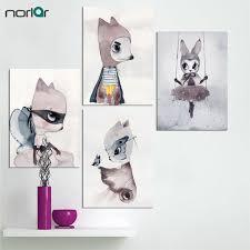 rabbit prints aliexpress buy nordic decoration girl wall canvas