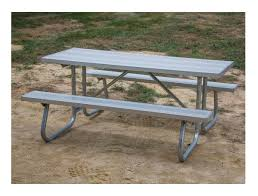 12 ft aluminum picnic table with welded galvanized steel frame