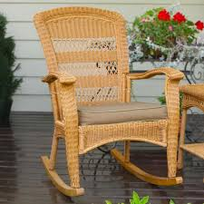 Wooden Rocking Chair Outdoor Tortuga Outdoor Portside Plantation Wicker Rocking Chair Wicker Com