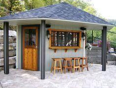 Cool Backyard Sheds Dream Backyard Bar Backyard Gardening Gazebo Pinterest