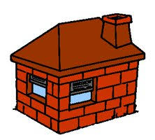 hosue clipart brick house pencil and in color hosue clipart