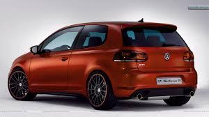 wallpaper volkswagen gti volkswagen gti worthersee 09 concept orange color car back side