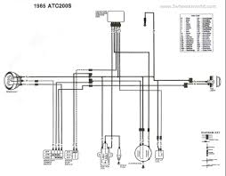 85 honda trx 250 wiring diagram wiring diagram and schematic