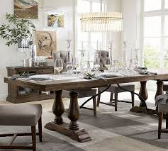 fancy dining room tables pottery barn lorraine extending table