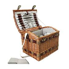 picnic basket set for 2 buy 4 person picnic basket set w cheese board blanket online at