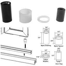 Shower Door Pivot Bushing Kit And Door Stop For Framed Pivot Shower Doors
