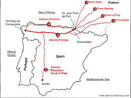Map A Walking Route by Routes And Map 30 Days To Santiago Com