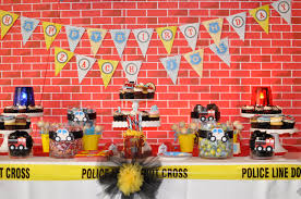 amazing police and fireman birthday party anders ruff custom