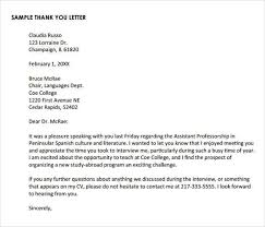 thank you letter after phone interview 15 free sample example