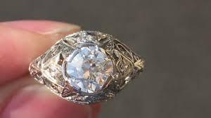 filigree engagement rings art deco filigree engagement ring platinum 1920 u0027s youtube