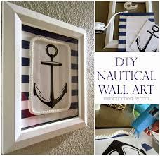 impressive pottery barn wooden anchor wall art nautical wall decor
