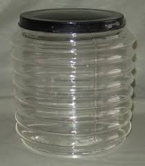 vintage sellers hoosier cabinet ribbed glass canister u0026 lid in