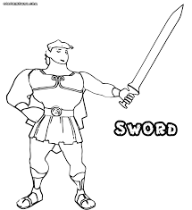 sword coloring pages coloring pages to download and print