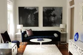 Navy Blue Tufted Sofa Velvet Tufted Sofa Living Room Transitional With Accent Chair
