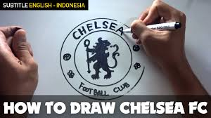 Chelsea Logo Chelsea Logo Logo How To Draw A Cartoon Chelsea Fc Logo Tutorial Step By Step