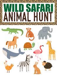 animal safari scavenger hunt play party plan