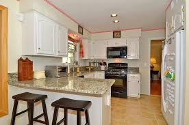 off white kitchen cabinets with black appliances pictures