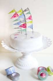 diy washi tape festival flag cake topper festival wedding tutorial