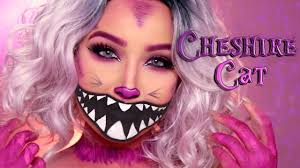 cute halloween cat makeup cheshire cat halloween makeup tutorial amanda ensing youtube