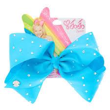 in hair bow jojo siwa small rhinestone keeper royal blue hair bow bows