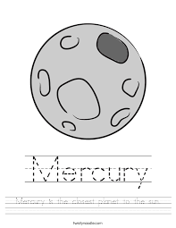 mercury is the closest planet to the sun worksheet twisty noodle