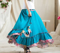 cotton skirts 2018 wholesale 2015 summer 100 cotton floor length
