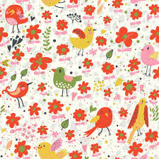 bright seamless pattern with birds and flowers seamless pattern