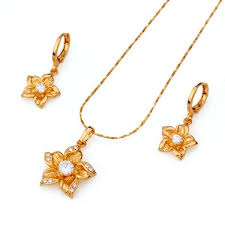 beautiful gold necklace set images Beautiful gold flower jewelry set gold jewelry gold jewelry jpg