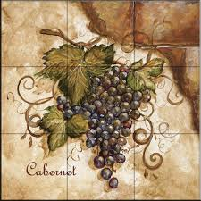 decorating amazing backsplash designs with tuscan grapes i by tre